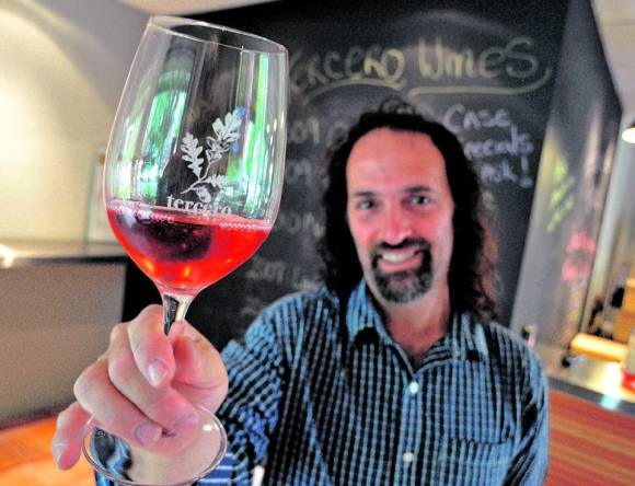 Larry Schaffer from Tercero Wines will be pouring from his conical flasks at the Garagiste Festival: Southern Exposure