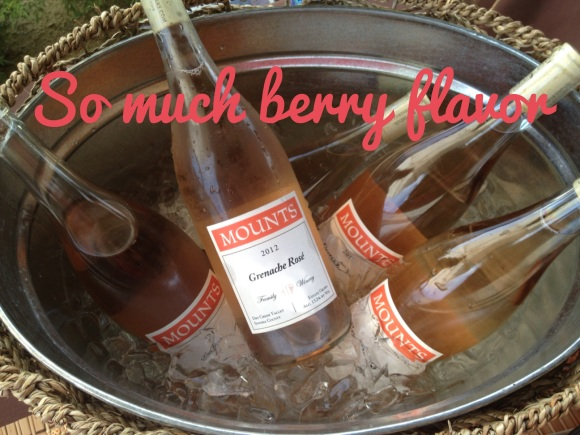2012 Mounts Family Winery, Grenache Rosé, Dry Creek Valley, Sonoma County