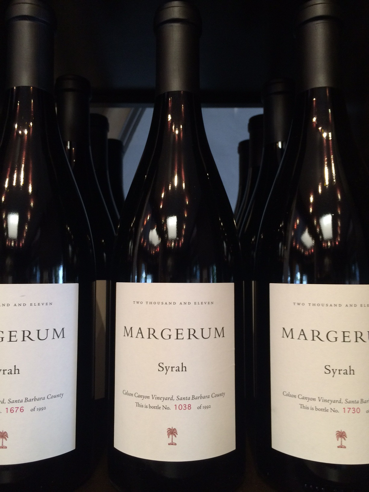 2011 Margerum Syrah, Colson Canyon Vineyard, Santa Barbara County