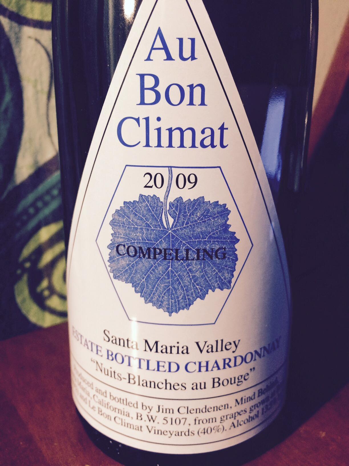 """2009 Au Bon Climat """"Compelling"""" Nuits-Blanches au Bouge, Santa Maria County"""