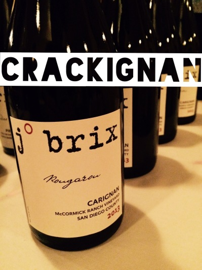 2013 J Brix Carignan, McCormick Ranch Vineyard, San Diego County
