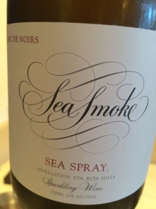 Sea smoke sea spray
